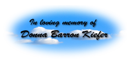 In loving memory: Donna Barron Kiefer
